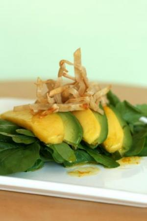 Avocado-Mango Salad with Tequila Lime Vinaigrette